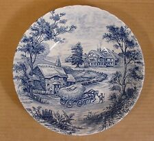 Hayride -Blue Vegetable Bowl Ridgway Ironstone Staffordshire Made in England