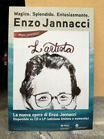 NO CD/LP ENZO JANNACCI - cartonato pubblicitario rigido - L'ARTISTA - cm 68x98