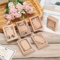 1PC Vintage Border Wooden Rubber Stamp DIY Handmade Scrapbooking Crafts Gifts