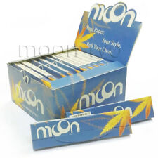 NEW Moon Blue Light Cigarette Rolling Papers King Size 108*45mm W Tips 768 leave