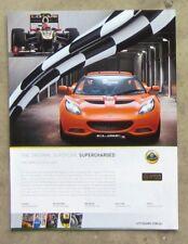 LOTUS ELISE S 1.8 SUPERCHARGED Auto Sports Car Magazine Page Sales Advertisement