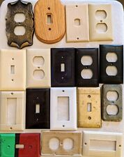 Used electrical switches Lot of 15 wall outlets face plates Jl