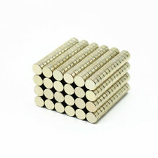 100pcs 6x3mm Small Neodymium Magnets Rare Earth Disk Strong Craft Magnet N38
