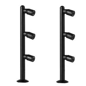 2Pcs 3W LED Desk Pole Light Fixture Adjustable Picture Lamp Cabinet Jewelry shop