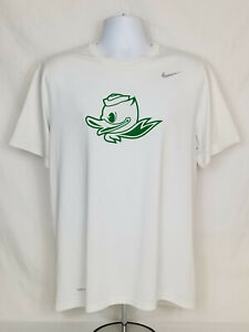 Oregon DUCKS Football TEAM ISSUED Nike Dri-Fit Short Sleeve TEE SHIRT   Men's  L