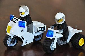 LEGO Policeman MINIFIG Mini Figure PLUS 1 Police Motorbike or 1 Trike Buggy