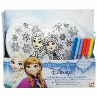 DISNEY FROZEN COLOUR YOUR OWN CUSHION ELSA ANNA GIFT