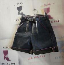 Trachten Lederhose kurz Herren Wiesn True Vintage leather trousers 60er schwarz