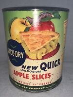 VINTAGE NOS Unopened 1960s 1.5 lbs. Vacu-Dry Apple Slices Can--Oakland, CA