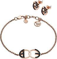 Emporio Armani EGS2587221 Set mit Armband & Ohrsteckern aus Edelstahl  rose neu