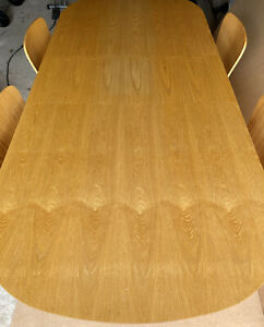 Solid Oak Extending Oval Dining Table And 4 Chairs