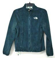 The North Face Womens Green Full Zip Mock Neck Adjustable Hem Fleece Jacket XS