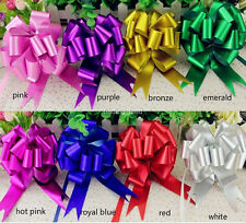 """50M x 150MM / 2 x 6"""" Large Poly Pull Ribbon Pull Bows Wedding Party Gift wrap-B2"""