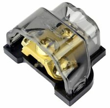 Power Ground Ring Terminal Distribution Block 8 4 2 0 Gauge In Out Gold GDBRG