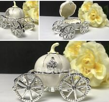 5XRing Box Proposal Carriage Jewelry Box Engagement Pumpkin Wedding Rings Holder