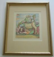 LOUIS MONZA DRAWING 1960'S SURREALIST ABSTRACT EXPRESSIONIST ORIGINAL FIGURES