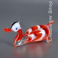 Belle statuette canard fait main de verre coloré Longueur 10cm  Beau des cadeaux