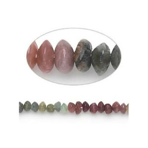 Mixed-Colour Tourmaline Beads Plain Rondelle Approx 3 x 4mm Strand Of 100+