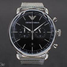 Emporio Armani Reloj Hombre Cronógrafo AR11104 Milanaise- ( Mesh Cinta De