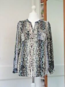 M&S COLLECTION ANIMAL PRINT BLOUSE SIZE 14 BRAND NEW