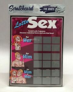 Lotto Sex Scratch off Card Adults Him & Her Treat Romantic Valentine Couple Gift