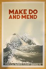 2014 Make Do and Mend - Gainesville Silkscreen Concert Poster by Justin Santora