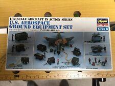 HASEGAWA 1/72 US AEROSPACE  / GROUND EQUIPMENT SET MAQUETTE avion