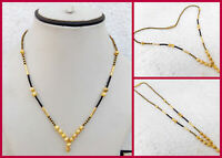 Indian Fashion Jewelry Ethnic Gold Plated Kanthi Necklace 22k Light Chain Mala