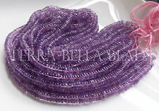 "8"" strand PINK AMETHYST smooth round heishi gem stone rondelle beads 5.5mm - 6mm"