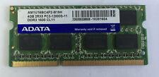 Laptop Notebook ADATA 4GB x1 AM1U16BC4P2-B19H DDR3-1600 SODIMM Memory Ram 204p