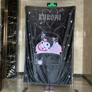 Kuromi black fuzzy Blanket Throw bed Blankets nap quilt quilts christmas gift