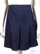 NEW 123 U.S.A. Blue Denim Pleated Jean Skirt Skort Shorts Juniors Large 11 13