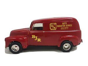 "Ertl ""BJR Radiator Service Rochester NY"" Red 1950 Chevy Panel Van Bank 1:25"