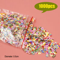 1000pc Miniature MixedCookies Cake Slices Dollhouse Food DIY Fimo Nail Art 1/12