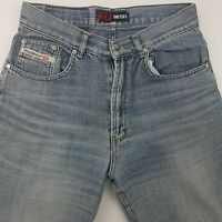 Diesel Mens Jeans W29 L29 Light Wash Regular Fit Straight High Rise Zip