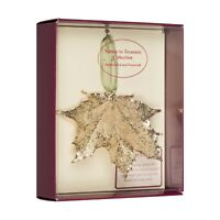 Sugar Maple Real Leaf Ornaments Dipped in 24k Gold - Comes Gift Boxed