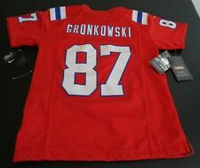 ROB GRONKOWSKI New England PATRIOTS Football NIKE Replica Youth SMALL Jersey Red