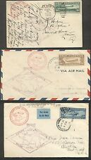 UNITED STATES 1930 Complete set (#C13-15) on 2 covers and card w/proper markings