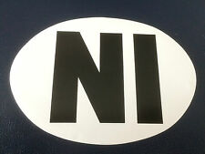 NI Sticker White UK Europe Euro Car Bike Van Adhesive Vinyl Weatherproof