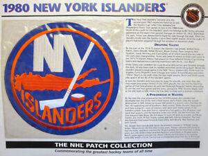WILLABEE & WARD ~ NHL THROWBACK HOCKEY PATCH INFO CARD ~ 1980 NEW YORK ISLANDERS
