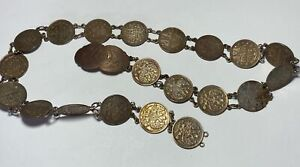 Vintage Russian Imperial Silver Coin Belt