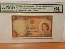 Rhodesia &  Nyasaland 1961 rare UNC PMG 64