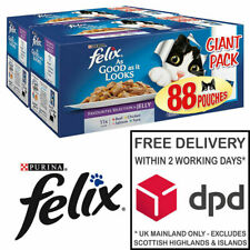 Felix As Good As It Looks AGAIL Favourites Selection Cat Food in Jelly 88 x 100g