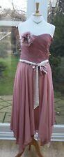 LADIES MONSOON PINK CREAM BRIDESMAID DRESSES SIZE 12 BNWT RRP £160 COLLETTE