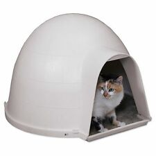 Igloo Cat Condo House Cave Shelter Bed Insulated Protection Pet Safe Outdoor New