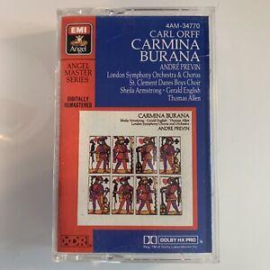 Orff Carmina Burana Andre Previn (Cassette)