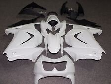 Fit for NINJA250R 2008-2012 Unpainted Raw White ABS Injection Fairing Body Kit