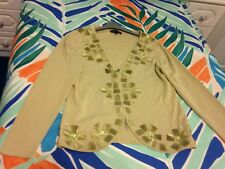 Stephen Y zipped  olive green cardigan size  M/L (16)