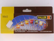 Faller 180652 Zubehör Kirmes Modelle 5x LED bunt gemischt OVP 1603-09-80