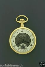 Hamilton pocket watch 10k Gf 17j Fancy Dial Hb 793 44mm